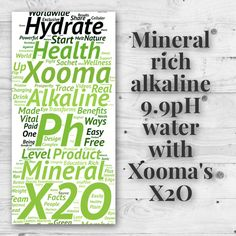Hydrate with X2O! Mineral rich, alkaline, 9.9pH water with X2O. Order X2O at http://www.BuyX2O.com