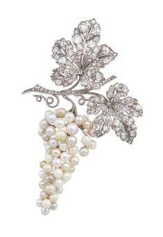 Pearl And Diamond Brooch, Van Cleef & Arpels Circa 1915 by VoyageVisuelle