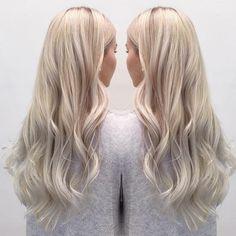 Blonde Hair Trends Medium Lengths 61 Ideas For 2020 Super Blonde Hair, White Blonde Hair, Blonde Hair Shades, Light Blonde Hair, Blonde Hair Looks, Platinum Blonde Hair, Icy Blonde, Hair Color And Cut, Hair Colour
