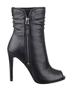 Charise Peep-Toe Booties With Zipper #GUESS Perfect for fall!