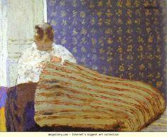 Edouard Vuillard. Mrs Vuillard Sewing/Madame Vuillard cousant. Olga's Gallery.