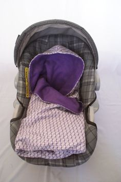 Purple Flannel Print Infant Carseat Swaddle by DesignsbyRomy, $35.00
