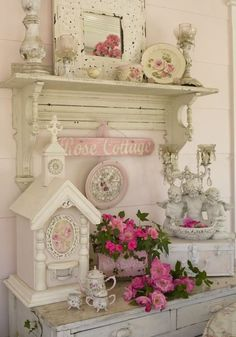 the shabby chic bedroom has shabby chic wall furniture, shabby chic furniture decorating ideas; shabby chic baby shower decoration my shabby chic home Shabby Vintage, Shabby Chic Français, Cocina Shabby Chic, Muebles Shabby Chic, Estilo Shabby Chic, Chabby Chic, Shabby Chic Kitchen, Shabby Chic Furniture, Bedroom Furniture