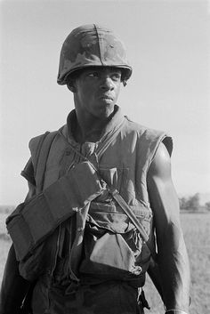 A Marine on patrol 8 miles south of the city of Da Nang. Oct. 30, 1969. Vietnam War.