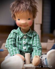 Little Thomas ❤ #mpf #monpetitfrere #naturalfiberartdoll #dollsofinstagram #woolart #textileart #artdoll