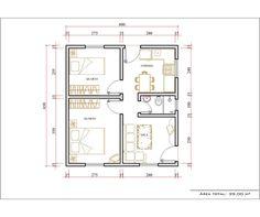 ..::: Monte Sua Casa :::.. Guest House Plans, 2 Bedroom House Plans, Small House Plans, House Floor Plans, Small Apartment Plans, Apartment Layout, Drawing House Plans, Indian Home Design, Architectural House Plans