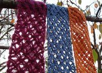 Zen and the Art of Stash Diving Scarves - free pattern from @Robyn Chachula
