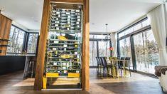 Glass Wine Cellar, Wine Glass, Wine Cellars, Appartement Design, Wine Wall, Sunroom, Decoration, Architecture, House