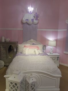 This bed offers a versatile - and stylish - way to update your child's room that they're sure to love!   #YouthBedroom #Stylish #Decorating #WhiteBed #HomeDecor