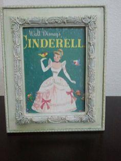 Upcycled Vintage Cinderella 1950 children's book by TheGuildedNest, $16.99