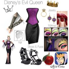 """""""Disney's Evil Queen Inspired Costume Outfit"""" by karla-cristina on Polyvore"""