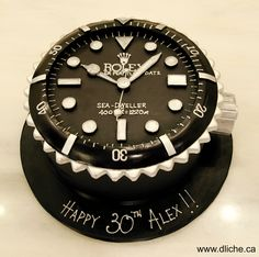 Une superbe montre Rolex pour un anniversaire! A stunning Rolex watch for. 30th Birthday Cakes For Men, Birthday Cake For Husband, Adult Birthday Cakes, Cake Birthday, Birthday Cake Ideas For Adults Men, Men Birthday, Birthday Table, Birthday Images, Birthday Gifts