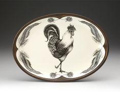 Laura Zindel Design - Small Oval Platter: Rooster, $175.00 (http://www.laurazindel.com/small-oval-platter-rooster/)