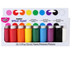 <div>It's easy to spray your way to sensational color withthese permanent fabric paints! W...