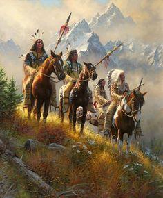 Native American Paintings, Native American Pictures, Native American Artists, Native American History, Indian Paintings, Native Indian, Native Art, Native American Warrior, West Art