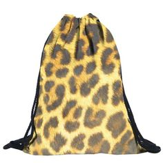 Fashion Leopard 3D Printing Women Backpack Men Travel Preppy Large Mochila Large Shopping Beach Drawstring Bag Wholesale noJE13-in Underwear from Mother & Kids on Aliexpress.com | Alibaba Group