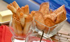 Receta de Eva Arguiñano para elaborar las tradicionales tejas y cigarrillos de Tolosa (Gipuzkoa), perfectos para acompañar el café o servir en ocasiones especiales. Más info: http://www.hogarutil.com/cocina/recetas/postres/201401/tejas-cigarrillos-23263.html#ixzz3KHd6veXL