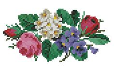 Small roses violets and white flowers cross stitch por Smilylana Cross Stitching, Cross Stitch Embroidery, Cross Stitch Patterns, Cross Stitch Rose, Cross Stitch Flowers, Roses And Violets, Small Rose, Digital Pattern, Beading Patterns