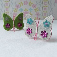 Mariposas de fieltro