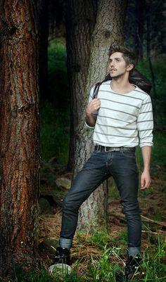 L.L. Bean Striped Sweatshirt, Landrover Italian Short Boots, Salvatore Ferragamo Leather Bag, Brown Leather Belt