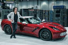 Paul Stanley of KISS shows his custom designed Corvette Stingray at SEMA.