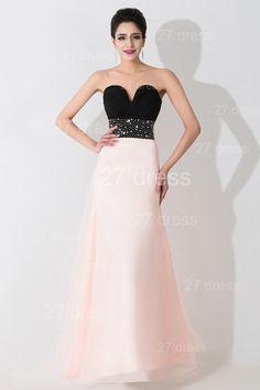 Gorgeous Sweetheart Beadings Prom Dress Long Chiffon Pink - Products 82928e9c71b4