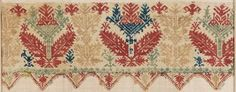 Fragment of sheet border      Greek (Cyclades, Anaphe or Siphnos), 17th–18th century  MFA Boston has a great collection of Greek embroideries