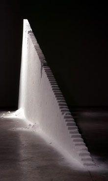 UTSUSEMI by Motoi Yamamoto | salt sculpture size : 2.8×7.5m(3t) | P.S.1 Contemporary Art Center, New York, Feb-Jun. 2003