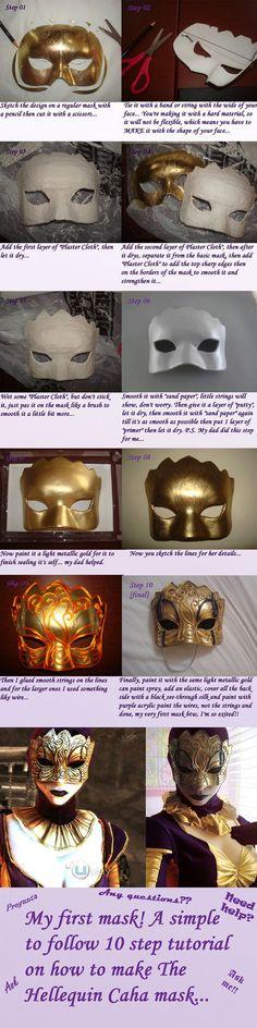 The Hellequin (Caha) mask tutorial by ~Josumi-kun on deviantART