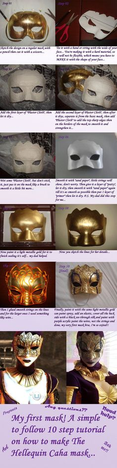 The Hellequin (Caha) mask tutorial by ~Josumi-kun on deviantART