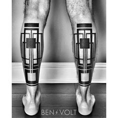 Geometric tattoo by Ben Volt