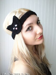 Black Cat Headband by jessicalynneart on Etsy, $14.50