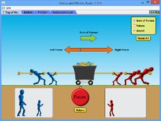 Forces and Motion: Basics - for MS but could be modified for lower grades - from Phet Interactive simulations