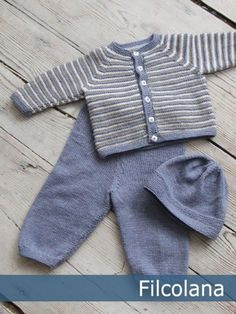 Ravelry: Mille and Bertram pattern by Hanne Pjedsted. Ravelry: Mille and Bertram pattern by Hanne Pjedsted. Knitted Baby Cardigan, Knit Baby Sweaters, Knitted Baby Clothes, Striped Cardigan, Baby Sweater Patterns, Baby Knitting Patterns, Baby Patterns, Cardigan Pattern, Pants Pattern