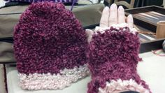 Hat n fingerless hand warmers
