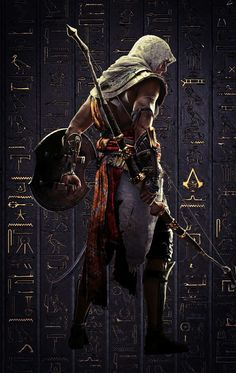 assassin creed art - bayek if siwa Arte Assassins Creed, Assassins Creed Origins, Assassins Creed Odyssey, Assasing Creed, All Assassin's Creed, Fantasy Warrior, Fantasy Art, Assassin's Creed Wallpaper, Fantasy Characters