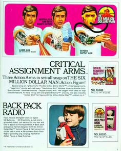 Six Million Dollar Man and Bionic Woman Toy Catalogue - Retronaut