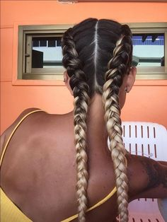 # cornrows Braids tutorial If you are trying to find Boxer Braids Hairstyles, Sporty Hairstyles, Creative Hairstyles, Trending Hairstyles, Summer Hairstyles, Braided Hairstyles, White Girl Braids, Girls Braids, White Girl Cornrows
