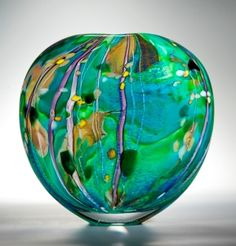 A collection of glass art, interpreting Hockney's striking use of light, colour and form.