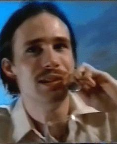 Jeff Buckley + moustache .Interviewed during his New Zealand Tour, February 1996 .