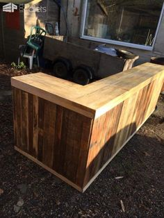 Pallet Counter/Bar DIY Pallet Bars