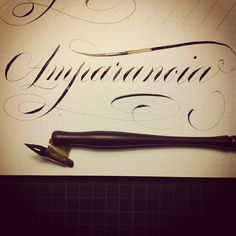 Some Copperplate Calligraphy by Ramiro Espinoza, via Behance