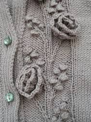 Flowers in a knitted blouse