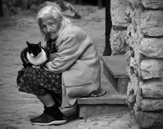 cat and owner