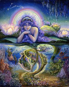 La Déesse Hina  Hina est une déesse de la Lune, elle est polynésienne et hawaïenne. Beaucoup dise de la Déesse qu'elle est si belle que personne n'ose la regarder directement.   La Déesse Hina est remplie de compassion pour les aborigènes, elle a jeté des morceaux de Lune sur les îles pour les aider à subvenir à leurs besoins.   Grâce aux morceaux de Lune que la Déesse Hina a jeté, ils se sont transformés en figuiers du Bengale. Les aborigènes en ont battu l'écorce pour en faire des tapas…