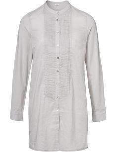 SEY-Studio lange blouse plooitjes lichtgrijs