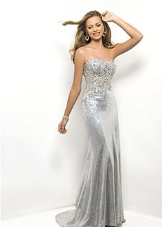 Silver Wedding Dress / Silver Evening Gown by TheVelvetPrincess ...