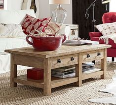 Colette Coffee Table Tray Pinterest Coffee Table Pottery Barn - Pottery barn colette coffee table