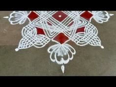 Friday Padi Kolam | Chithirai Matham kolam | 5*1 dot | Easy Rangoli | Pandaga Muggulu - YouTube Padi Kolam, Kolam Rangoli, Simple Rangoli, Crochet Necklace, Dots, Youtube, Stitches, Youtubers, Youtube Movies