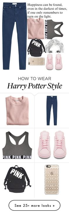 """<3"" by born2fashion on Polyvore featuring MANGO, Victoria's Secret PINK, H&M, adidas, Victoria's Secret and Casetify"